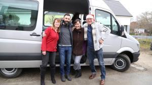 Constanze, Timo, Anke und Herbert bei Abfahrt am 3. Januar